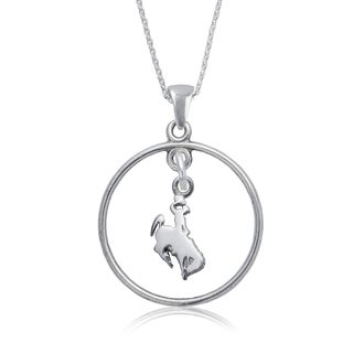 Wyoming Sterling Silver Open Drop Necklace