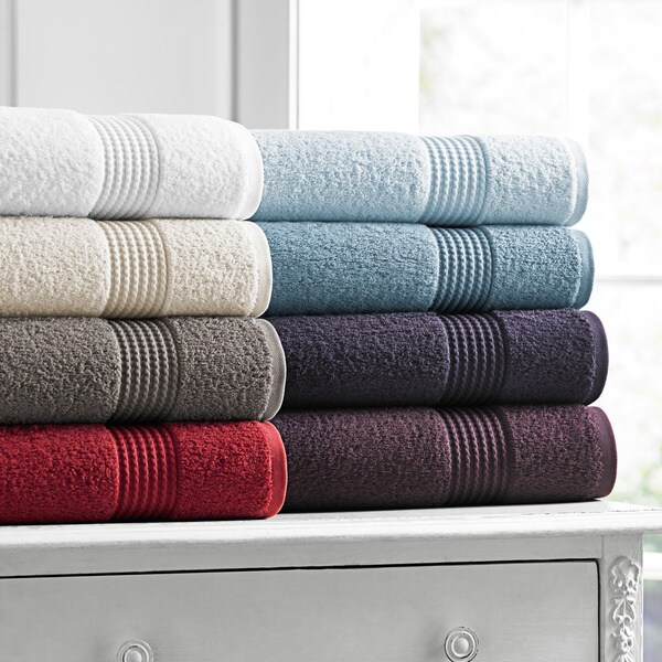 Luxurious 100-percent Long Twist Cotton 6-piece Towel Set