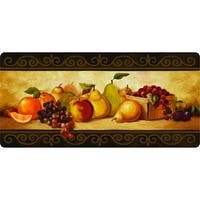 Multi Polyester and Memory Foam Indoor Gourmet Fruit Kitchen Mat - 20 x 42