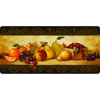 Multi Polyester and Memory Foam Indoor Gourmet Fruit Kitchen Mat (20 x 42)