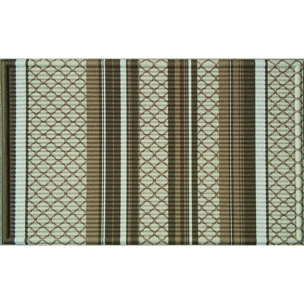 Indoor Quatrefoil Stripe Doormat (24x36)