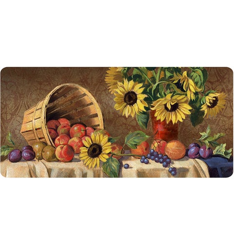 Indoor Sunflowers & Fruit Kitchen Mat (20x42)
