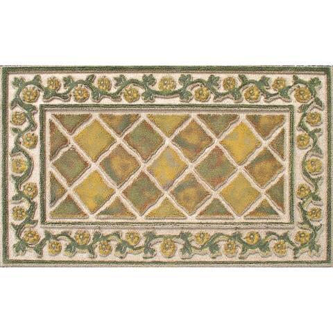 """Indoor Tiles Sisal Doormat (18x30) - 1'6"""" x 2'6"""""""