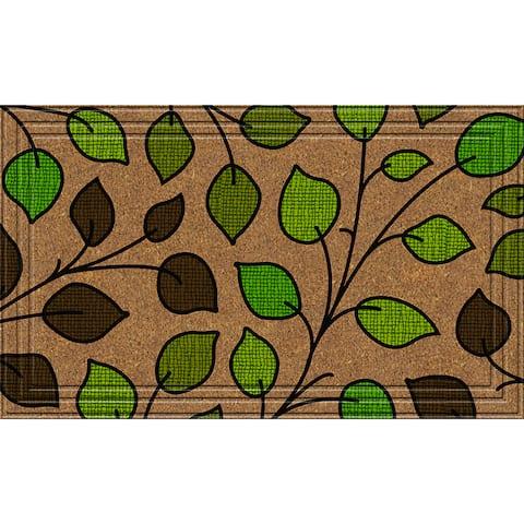 Indoor/Outdoor Summer Leaves Doormat (24x36)