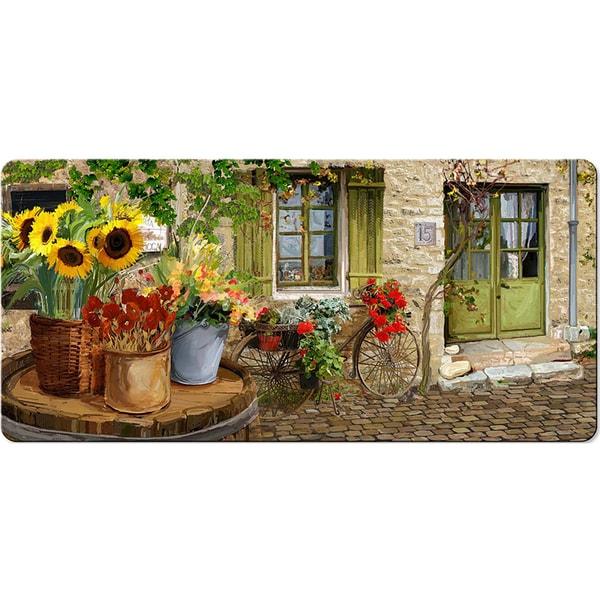 Kitchen Floor Mats Reviews: Shop Indoor Village St Floral Kitchen Mat (20x42)