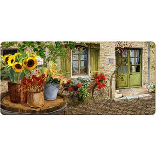 Indoor Village St Floral Kitchen Mat (20x42)
