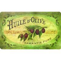 Indoor Vintage Olive Oil Kitchen Mat - 1'6 x 2'6