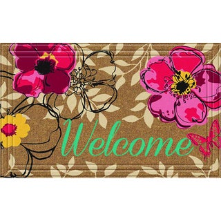 Indoor/Outdoor Floral Paradise Doormat (18x30)