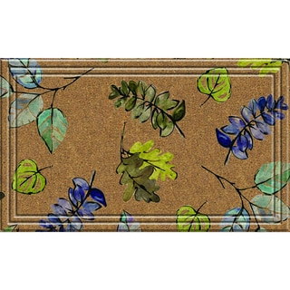 Indoor/Outdoor Natural Leaves Doormat (18x30)