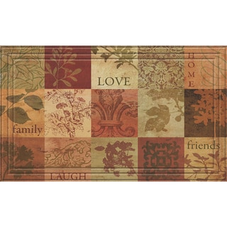 Indoor/Outdoor Patchwork Squares Doormat (18x30)