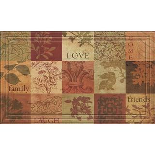 Indoor/Outdoor Patchwork Squares Doormat (18x30)