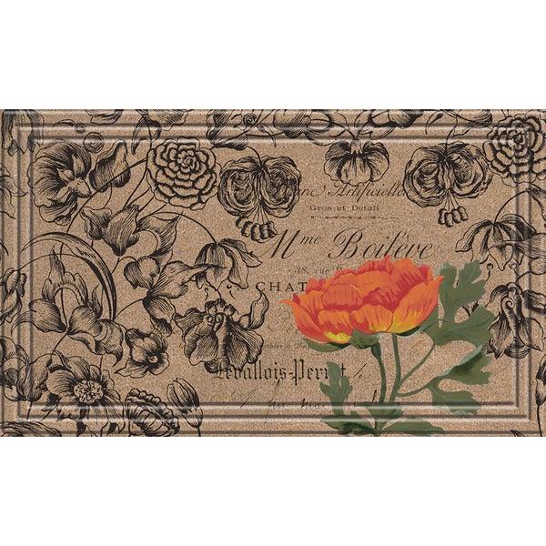 Indoor/Outdoor Vintage Floral Peony Doormat (18x30). Opens flyout.