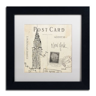Anne Tavoletti 'Postcard Sketches I' White Matte, Black Framed Wall Art