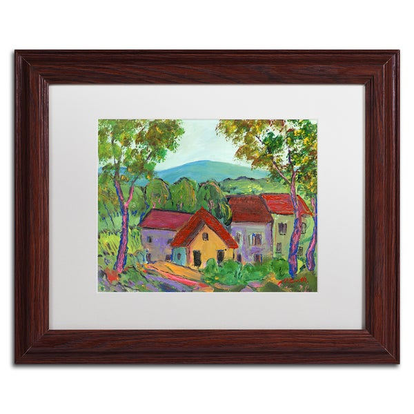 Manor Shadian 'Rainbow Home' White Matte, Wood Framed Wall Art