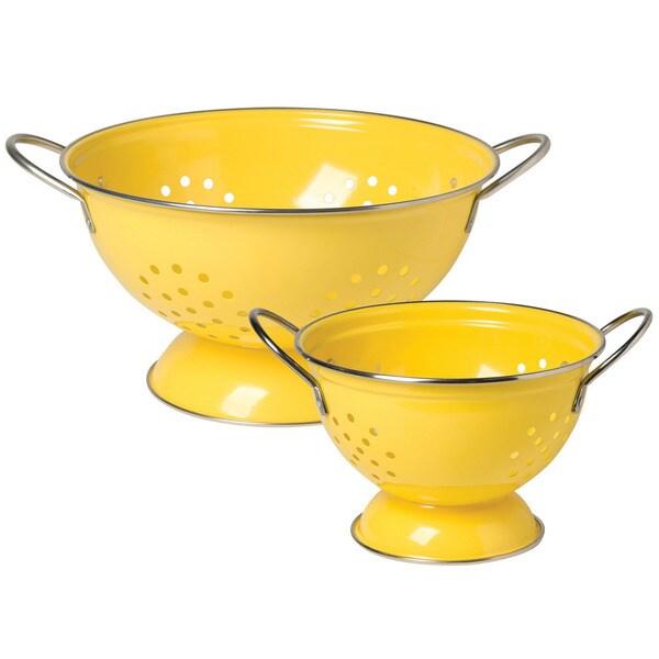 Shop Colander Lemon 2 Piece Set Free Shipping Today