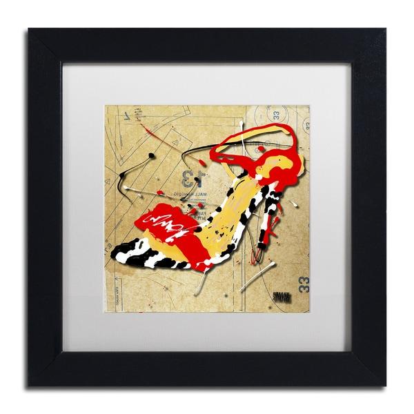 Shop Roderick Stevens Zebra Heel Red White Matte Black