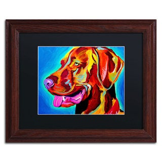 DawgArt 'Viszla' Black Matte, Wood Framed Wall Art