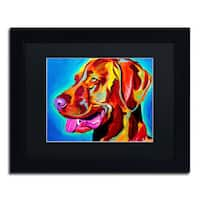 DawgArt 'Viszla' Black Matte, Black Framed Wall Art