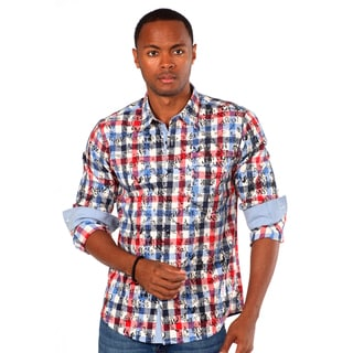 Something Strong Men's Red Plaid Shirt with Overlay
