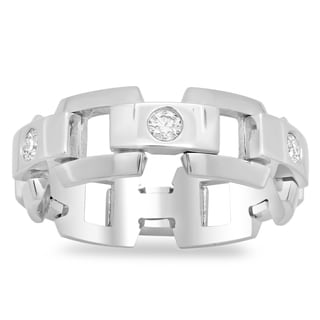 Artistry Collections 14k White Gold Men's Eternity 3/5ct TDW Diamond Ring (G-H, SI2)