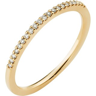 Boston Bay Diamonds 14k Yellow Gold 1/10ct TDW Channel-set Diamond Stackable Band (H-I, SI2-I1)