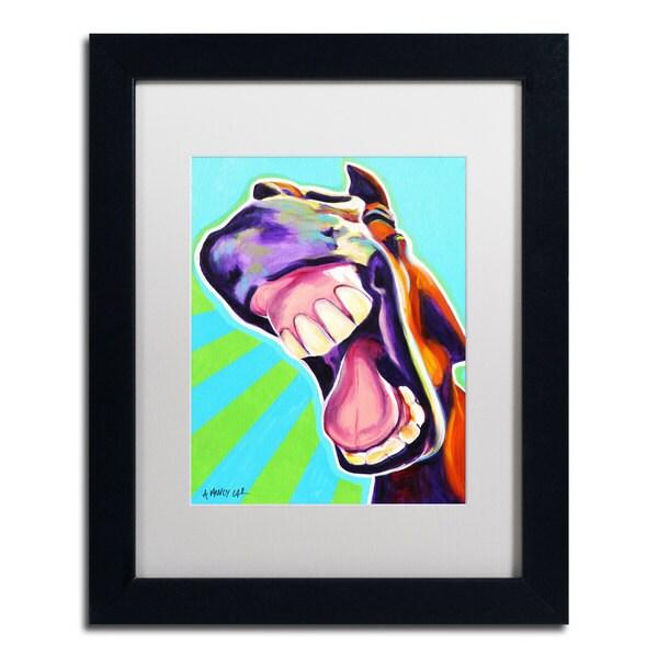 DawgArt 'That's A Good One' White Matte, Black Framed Wall Art