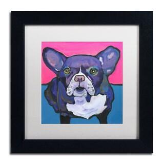 Pat Saunders-White 'Radar' White Matte, Black Framed Wall Art