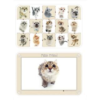 Reversible HanaDeka Feline Friend Placemats (Set of 4)