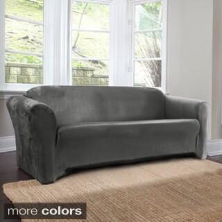 Coverworks Harper 1-Piece Stretch Suede Sofa Slipcover