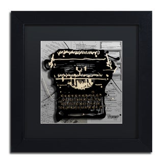 Roderick Stevens 'Movie Typewriter' Black Matte, Black Framed Wall Art