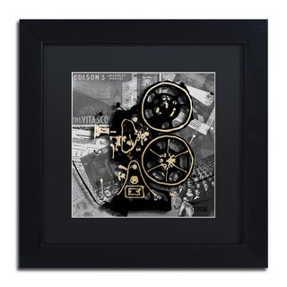Roderick Stevens 'Movie Projector' Black Matte, Black Framed Wall Art