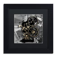 Roderick Stevens 'Movie Projector' Black Matte, Black Framed Wall Art