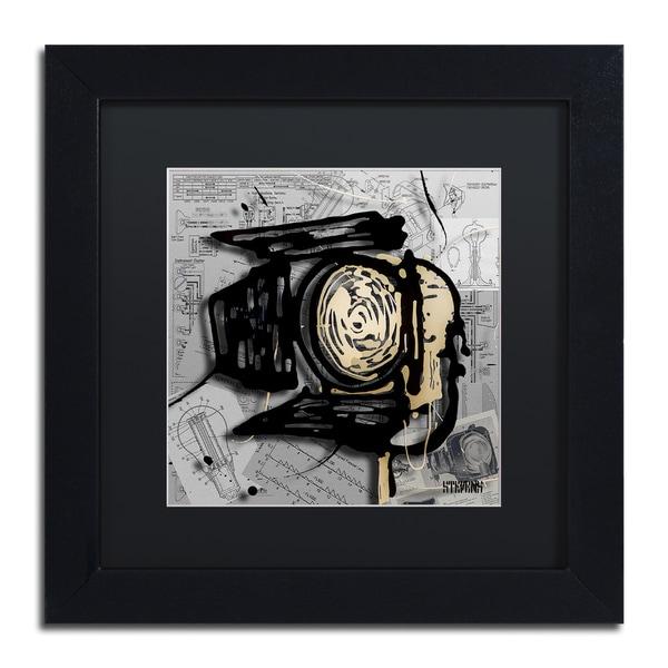 Roderick Stevens 'Movie Light' Black Matte, Black Framed Wall Art