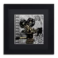 Roderick Stevens 'Movie Camera' Black Matte, Black Framed Wall Art