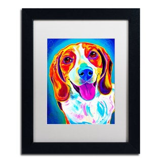 DawgArt 'Lucy' White Matte, Black Framed Wall Art