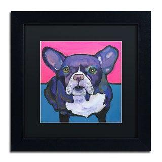 Pat Saunders-White 'Radar' Black Matte, Black Framed Wall Art