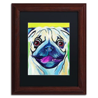 DawgArt 'Pugilicious' Black Matte, Wood Framed Wall Art