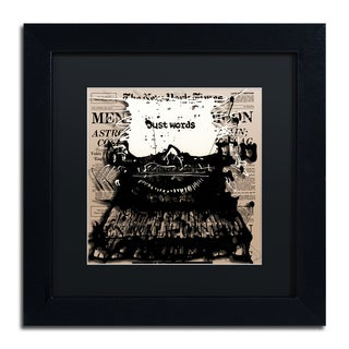 Roderick Stevens 'Just Words 2' Black Matte, Black Framed Wall Art
