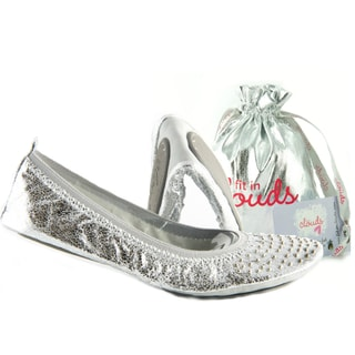 Fit In Clouds Silver Studs Foldup Shoes