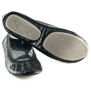 Fit In Clouds Black Studs Foldup Shoes (4 options available)