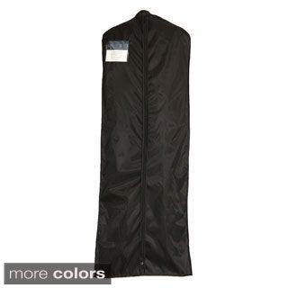 "Suit and Dress Travel Garment Bag (63"" x 23"") - Nylon Construction - Clear Zippered Index Front Pocket - Garment Bag, Black"