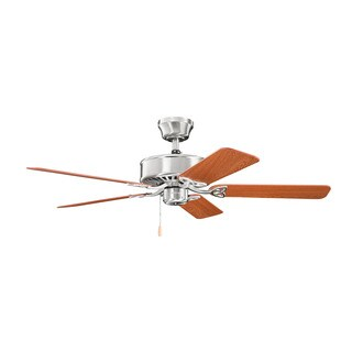 Kichler Lighting Renew ES Collection 50-inch Brushed Stainless Steel Ceiling Fan - Silver