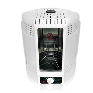 NutriChef PKRT15 White Kitchen Vertical Countertop Rotisserie Rotating Oven