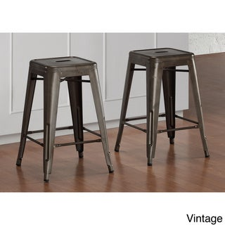 Tabouret 24-inch Vintage Brown Counter Stool (Set of 2) (As Is Item)