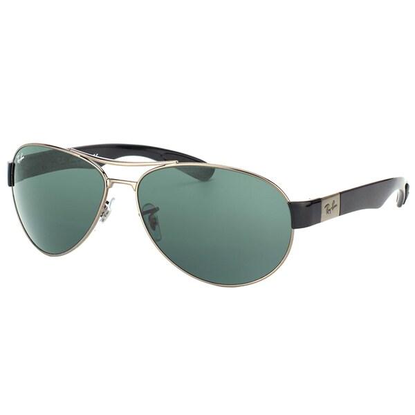 ray ban mens aviator sunglasses gunmetal  ray ban men's rb 3509 004/71 gunmetal 63mm aviator sunglasses