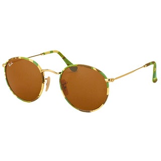 Ray-Ban Unisex RB 3447JM Round Camouflage 169 50mm Metal Sunglasses