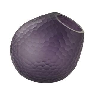 Dimone Home Purple Cut Glass Horn Vase