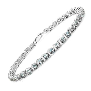 Malaika Sterling Silver 7 2/3ct Genuine Aquamarine Bracelet|https://ak1.ostkcdn.com/images/products/10479873/P17568808.jpg?impolicy=medium