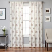 Softline Toluca Embroidered Faux Linen Back Tab Panel