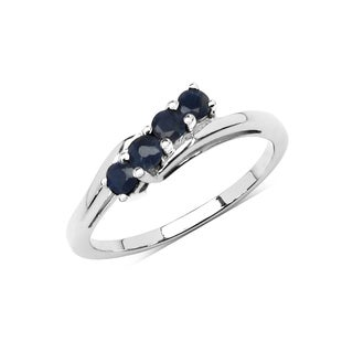 Olivia Leone Sterling Silver 1/2ct Genuine Sapphire Ring